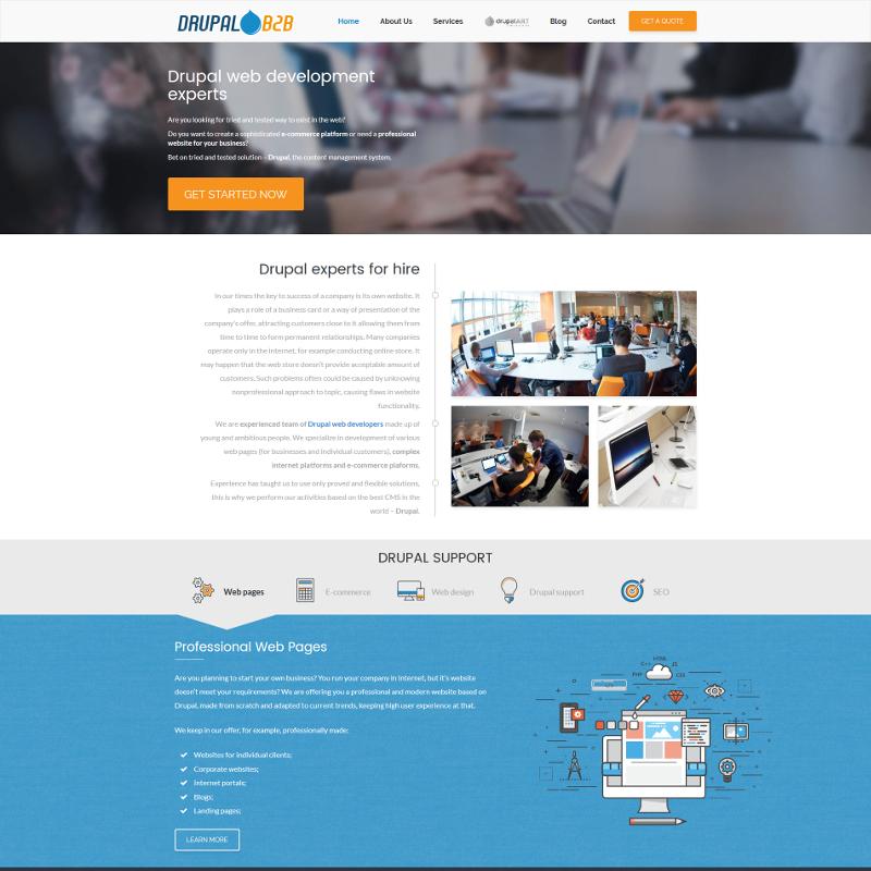 Profesjonalna strona internetowa dla programistów Drupal