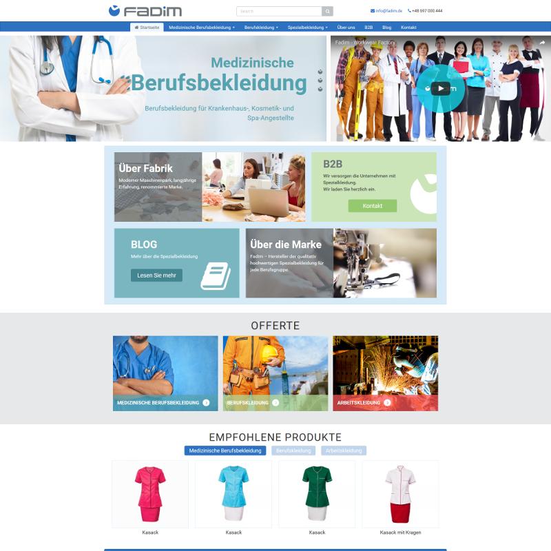Profesjonalny sklep internetowy z katalogiem odzieży medycznej