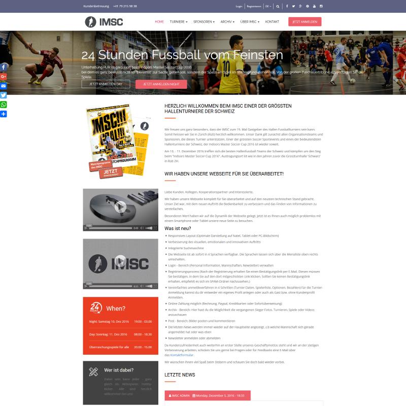 Portal internetowy z aplikacją do zarządzania turniejem piłki nożnej