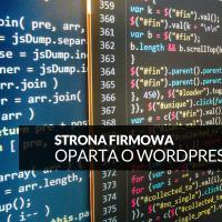 Strona firmowa oparta o WordPress
